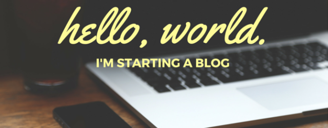 Hello, world. I'm starting a blog.